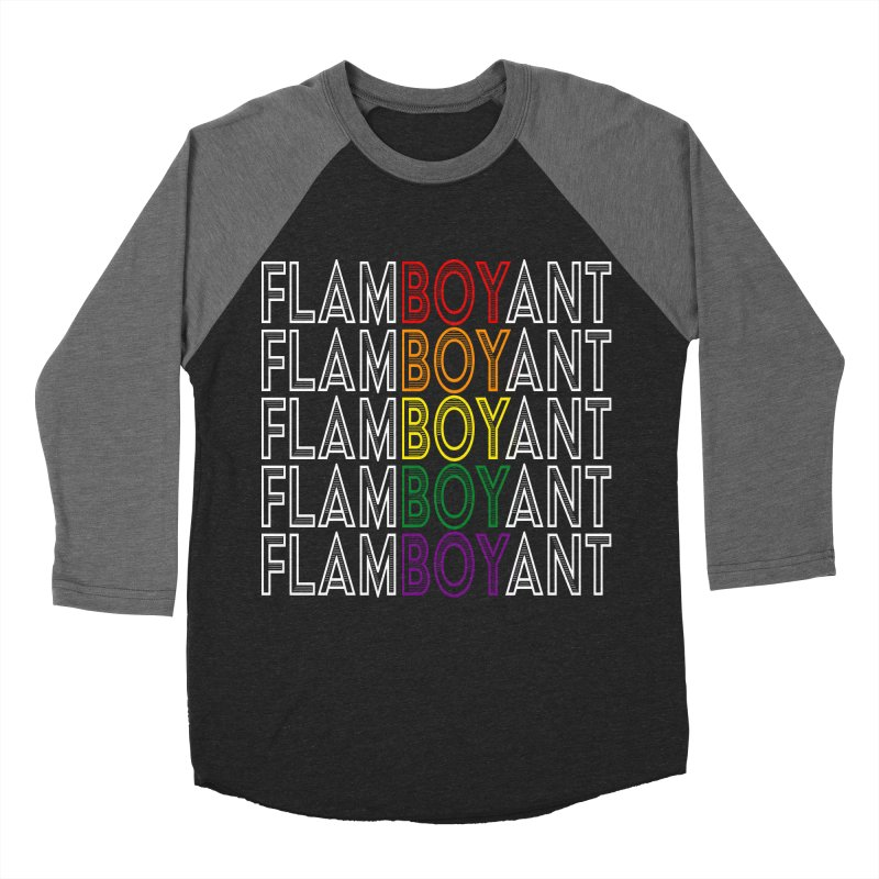 Flamboyant Women's Baseball Triblend Longsleeve T-Shirt by Inappropriate Wares