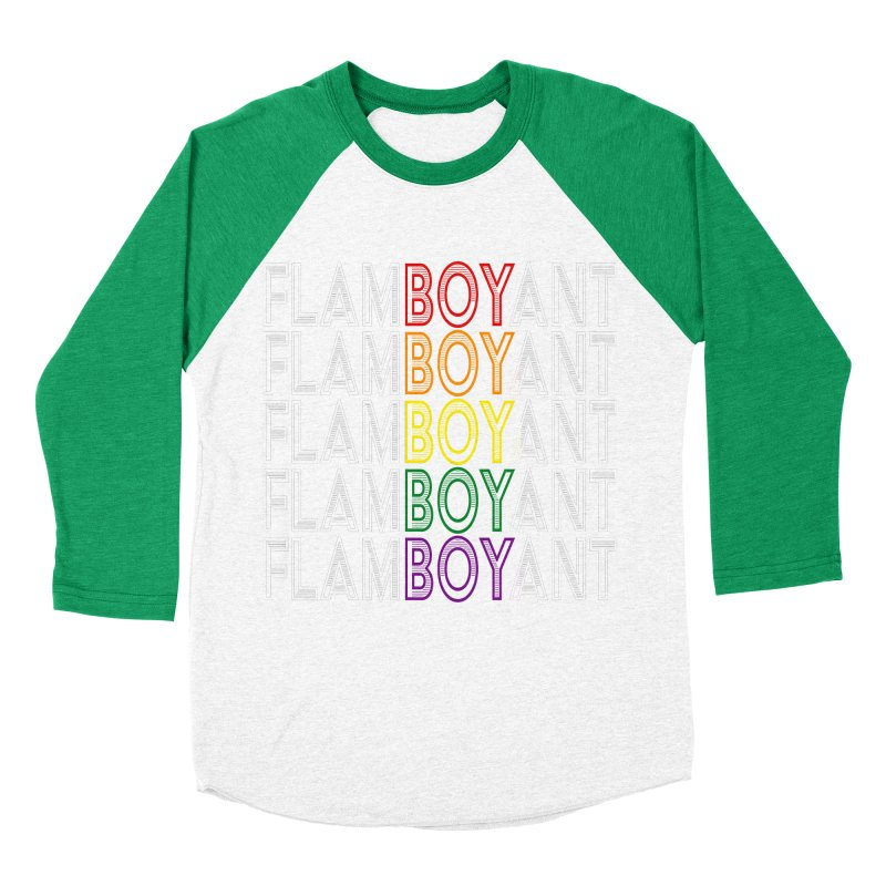 Flamboyant Men's Baseball Triblend Longsleeve T-Shirt by Inappropriate Wares
