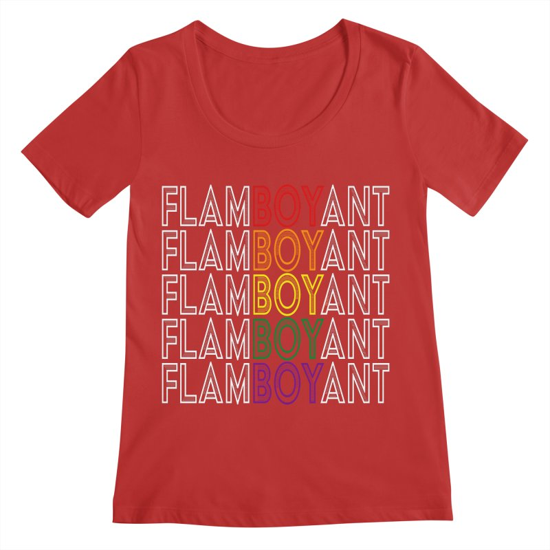 Flamboyant Women's Regular Scoop Neck by Inappropriate Wares