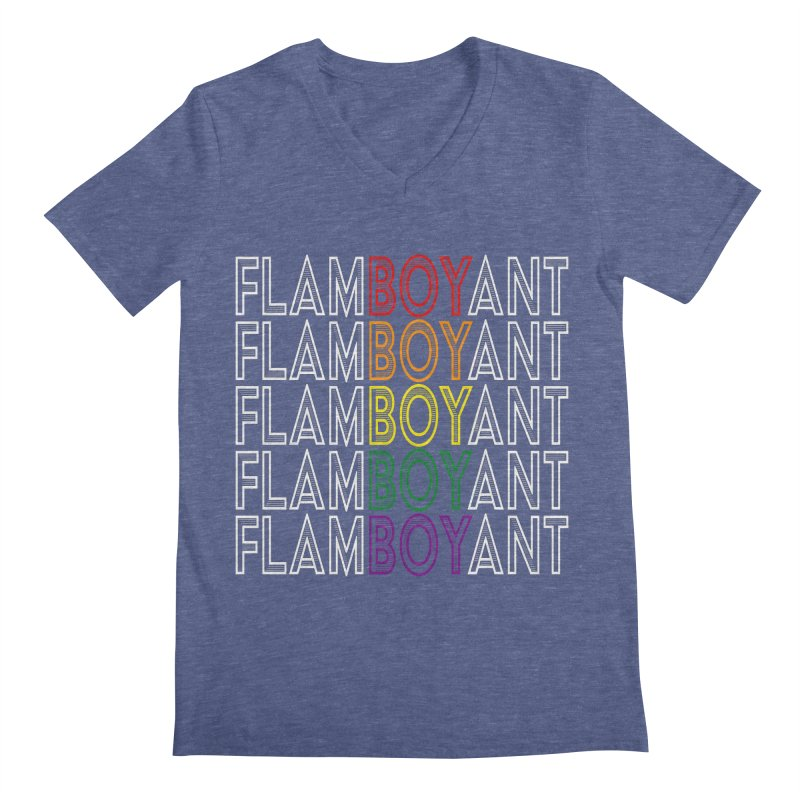 Flamboyant Men's Regular V-Neck by Inappropriate Wares