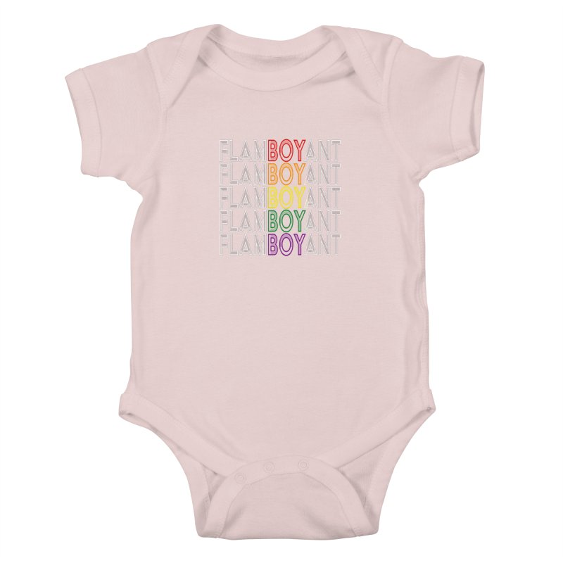 Flamboyant Kids Baby Bodysuit by Inappropriate Wares
