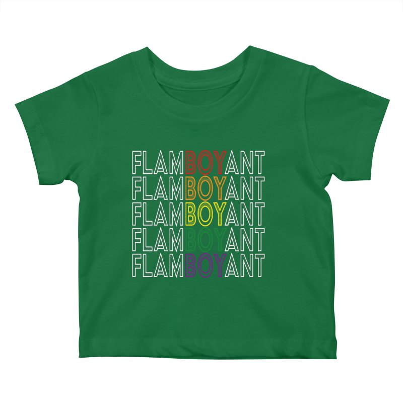 Flamboyant Kids Baby T-Shirt by Inappropriate Wares