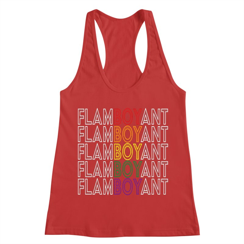 Flamboyant Women's Racerback Tank by Inappropriate Wares