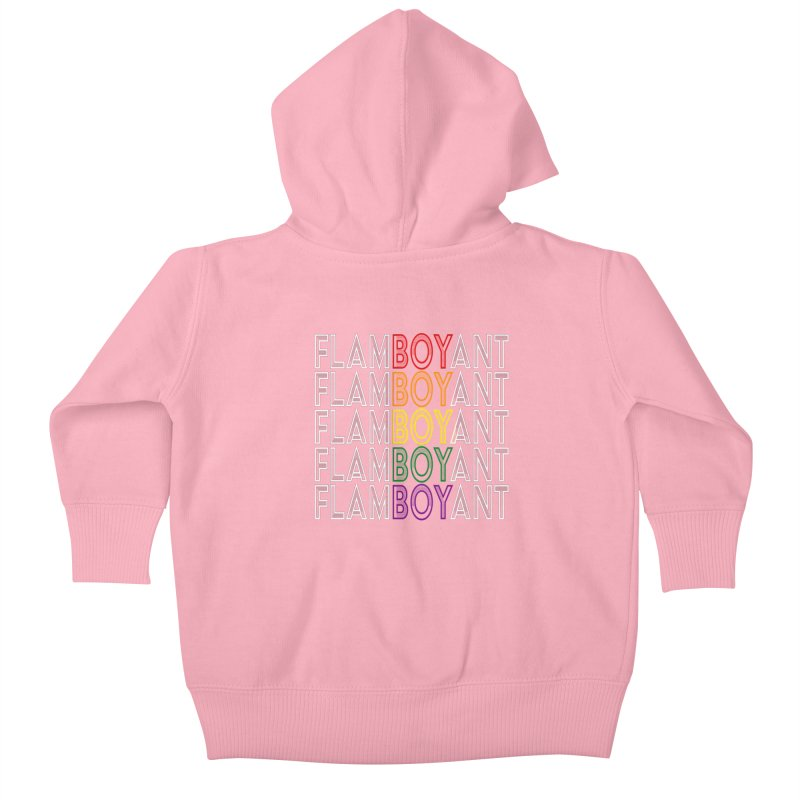 Flamboyant Kids Baby Zip-Up Hoody by Inappropriate Wares