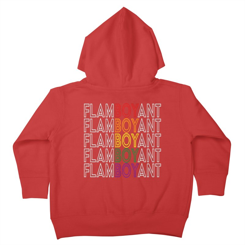 Flamboyant Kids Toddler Zip-Up Hoody by Inappropriate Wares