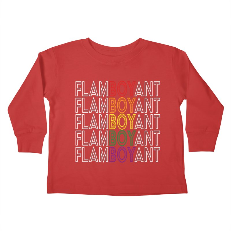 Flamboyant Kids Toddler Longsleeve T-Shirt by Inappropriate Wares