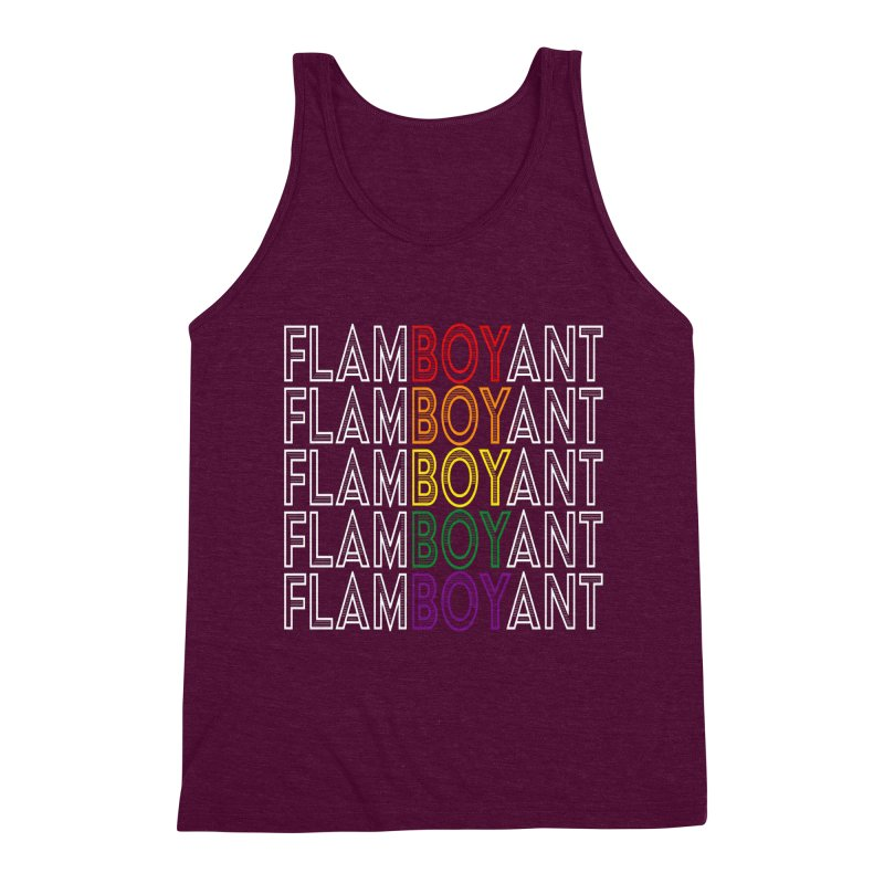 Flamboyant Men's Triblend Tank by Inappropriate Wares