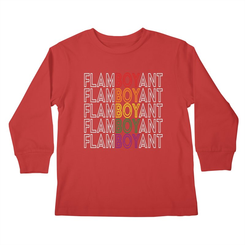 Flamboyant Kids Longsleeve T-Shirt by Inappropriate Wares