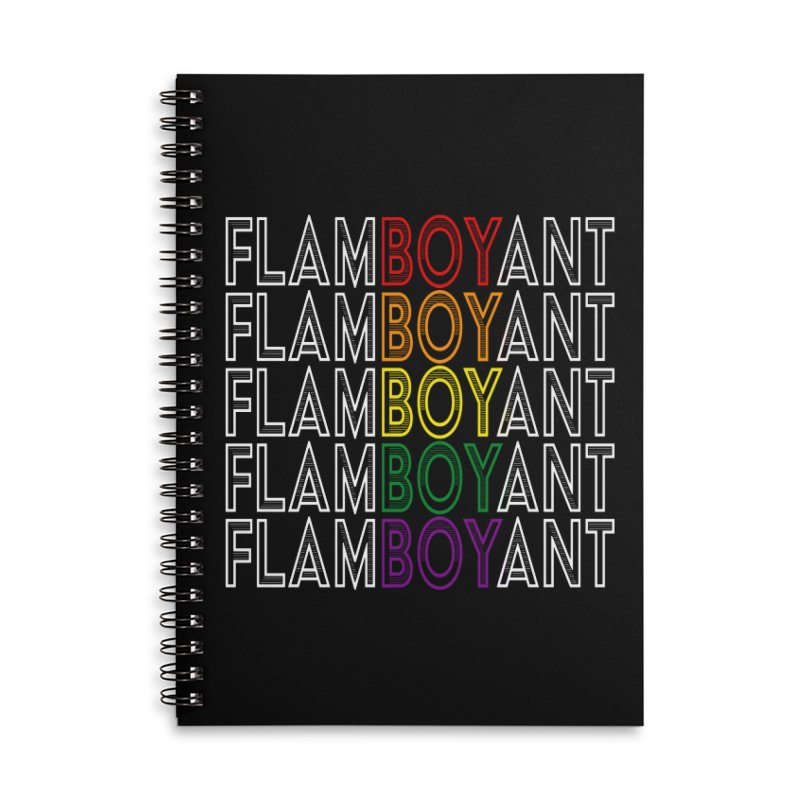 Flamboyant Accessories Lined Spiral Notebook by Inappropriate Wares