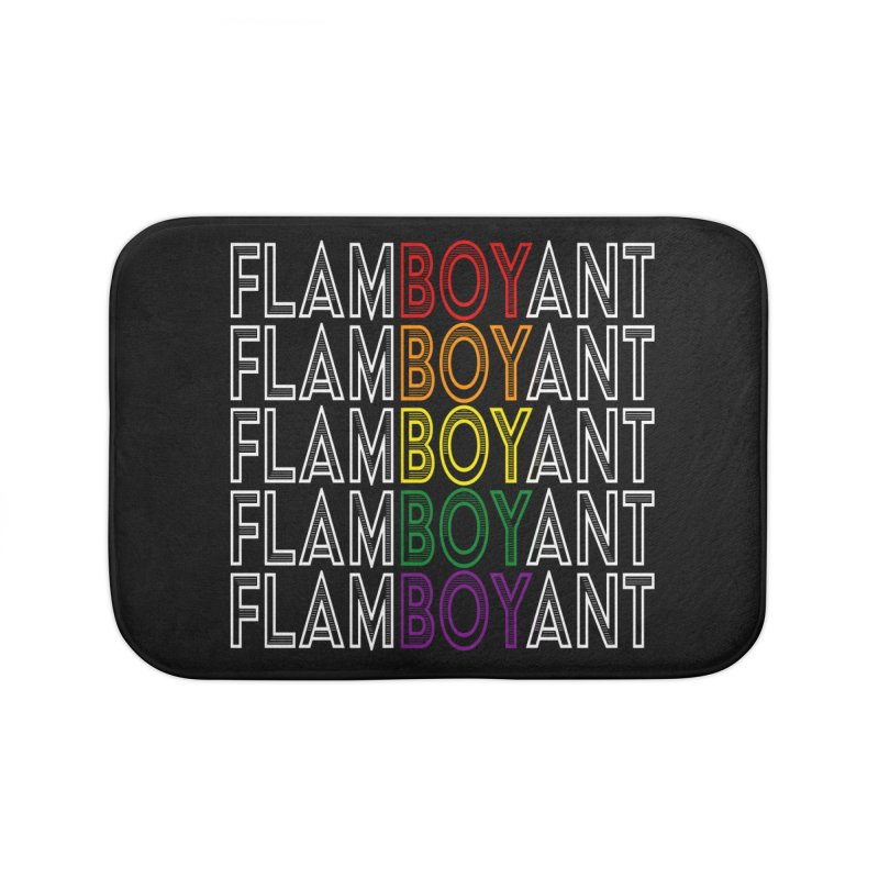Flamboyant Home Bath Mat by Inappropriate Wares