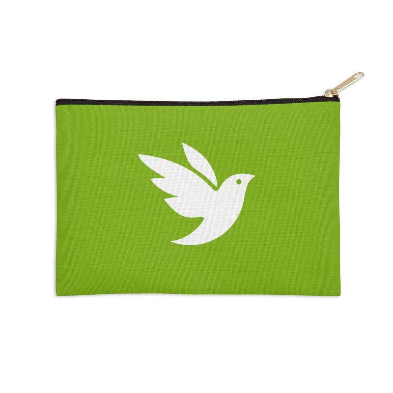 iNaturalist Bird in white Accessories Zip Pouch by iNaturalist Store