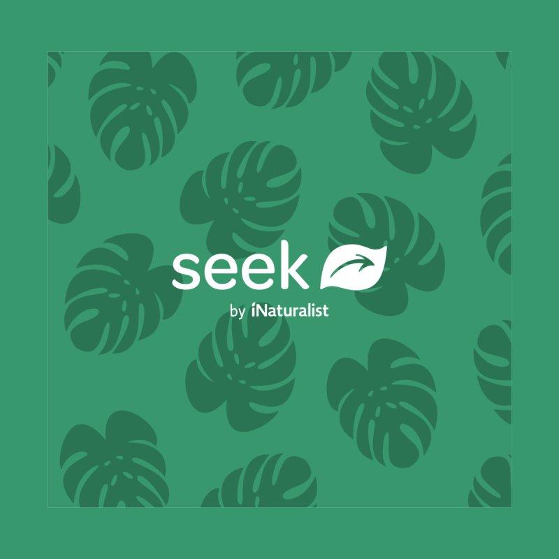 Seek Leaf Pattern Accessories Bag by iNaturalist Store
