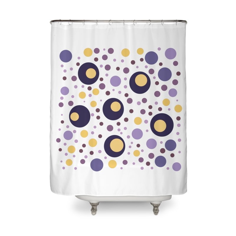 Circles Home Shower Curtain by inbalrubin's Shop