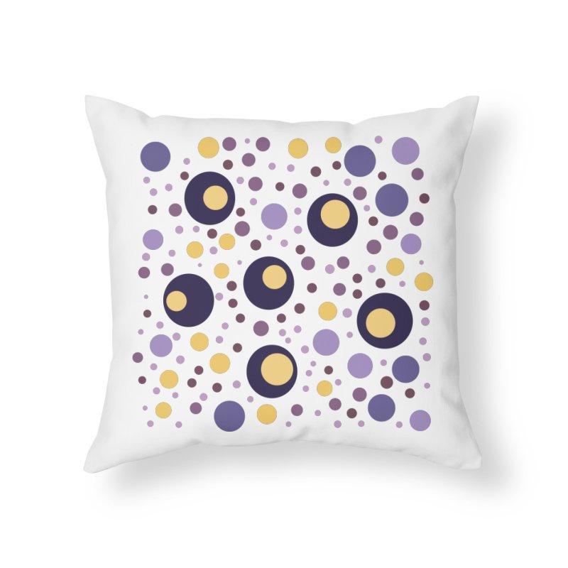 Circles Home Throw Pillow by inbalrubin's Shop