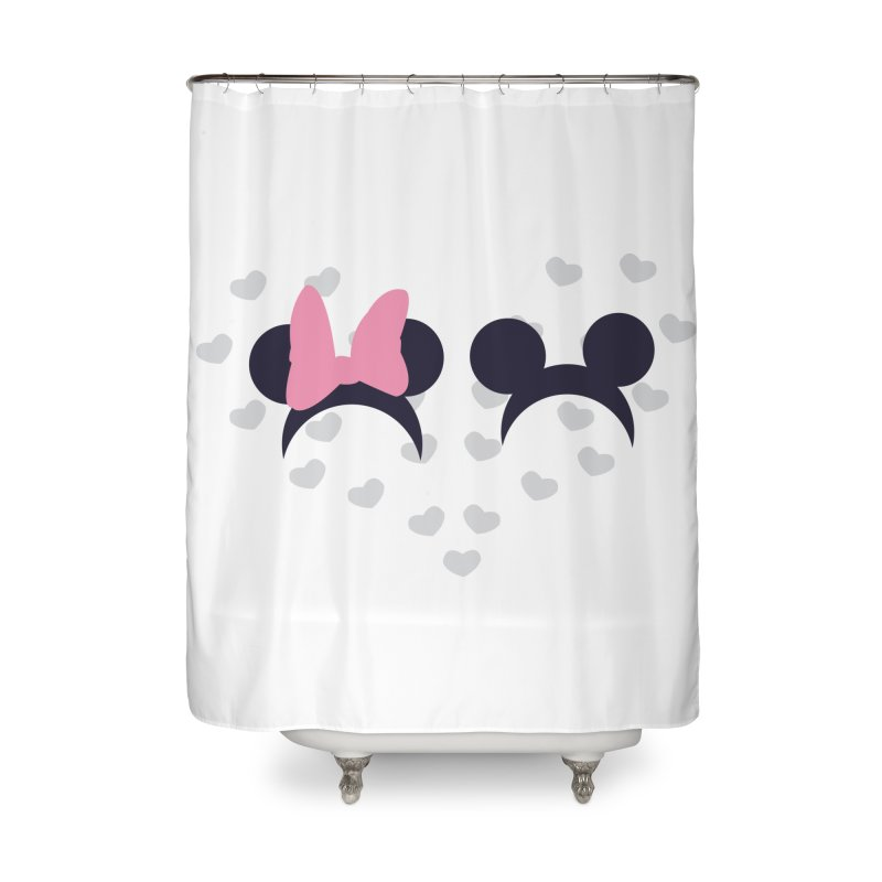 Mickey and Minnie Home Shower Curtain by inbalrubin's Shop
