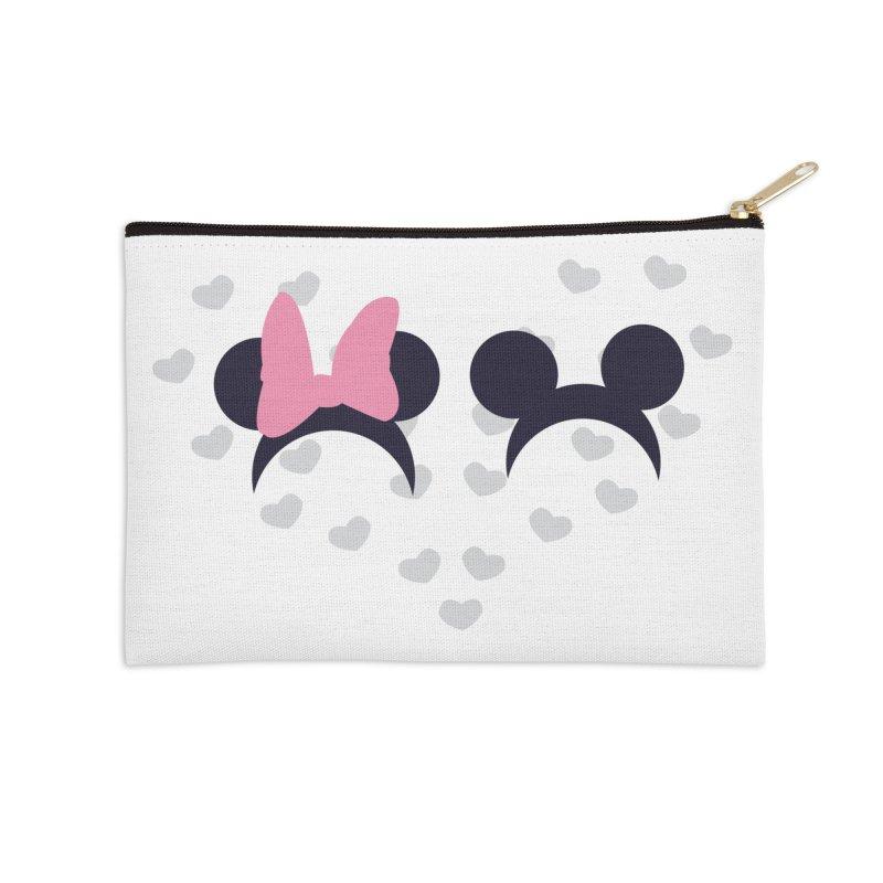 Mickey and Minnie Accessories Zip Pouch by inbalrubin's Shop