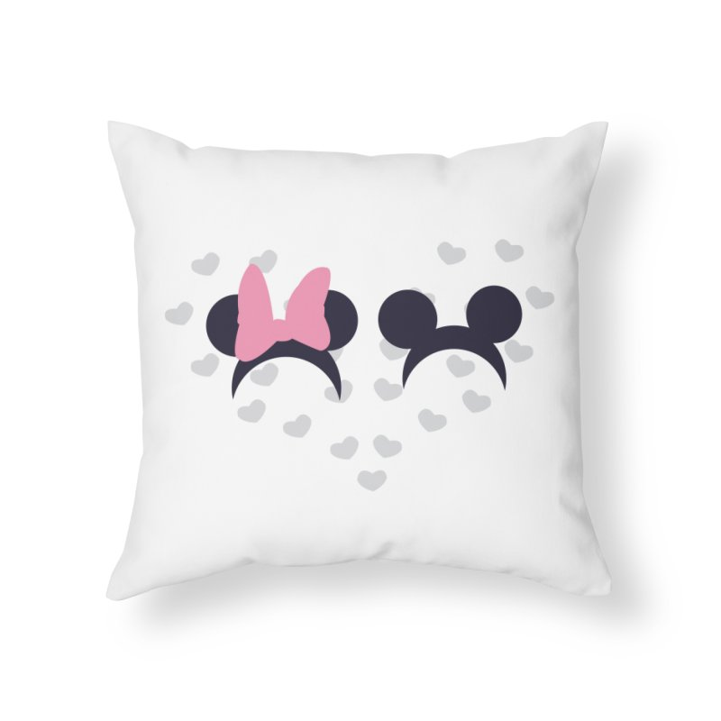 Mickey and Minnie Home Throw Pillow by inbalrubin's Shop