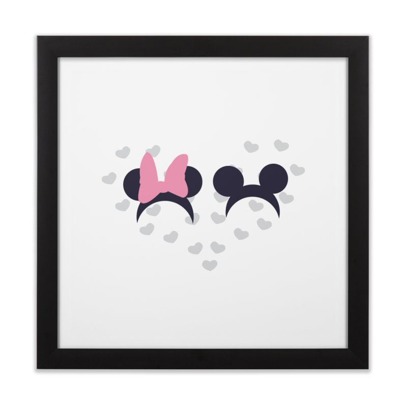 Mickey and Minnie Home Framed Fine Art Print by inbalrubin's Shop