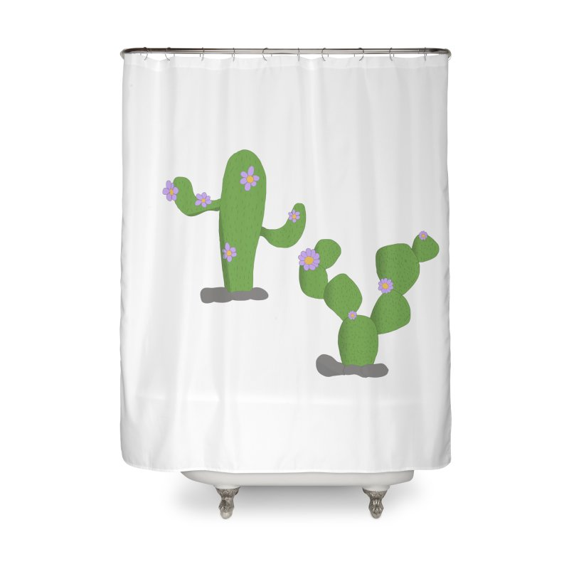 Kaktus Home Shower Curtain by inbalrubin's Shop
