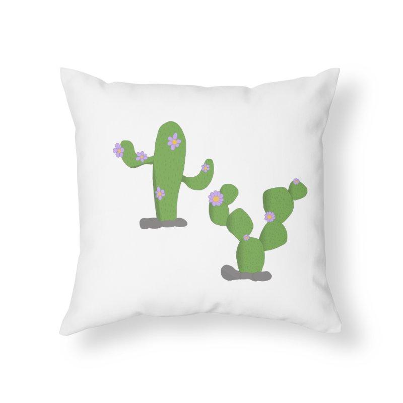 Kaktus Home Throw Pillow by inbalrubin's Shop