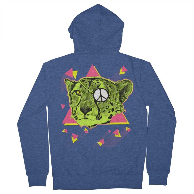 The Cheetah Neon Men's Zip-Up Hoody by inboxstreetwear's Shop
