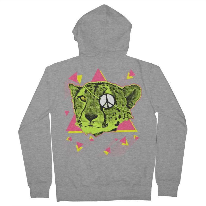 The Cheetah Neon Men's Zip-Up Hoody by inboxstreetwear's Shop