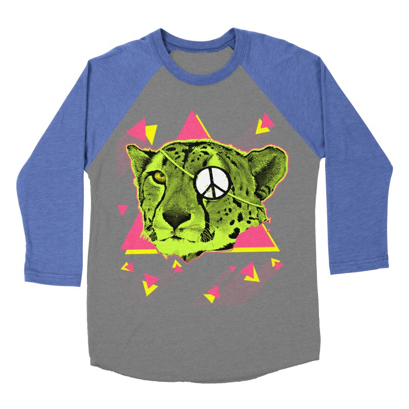 The Cheetah Neon Men's Baseball Triblend T-Shirt by inboxstreetwear's Shop