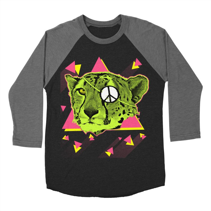The Cheetah Neon Men's Baseball Triblend T-Shirt by inboxstreetwear's Shop