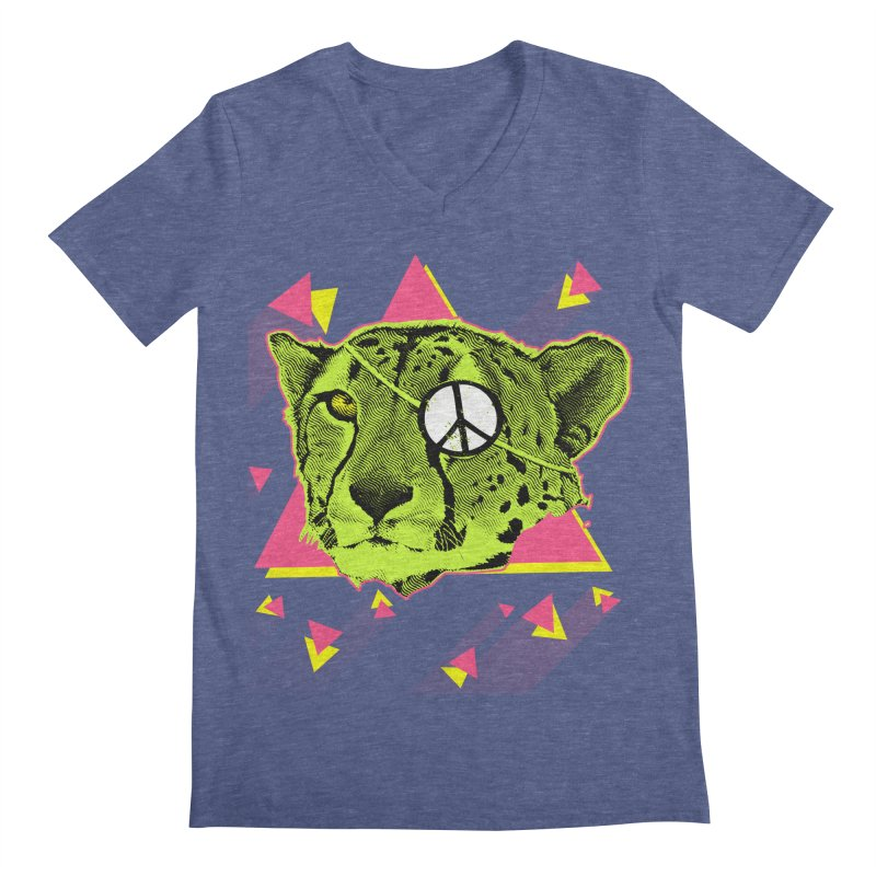 The Cheetah Neon Men's V-Neck by inboxstreetwear's Shop