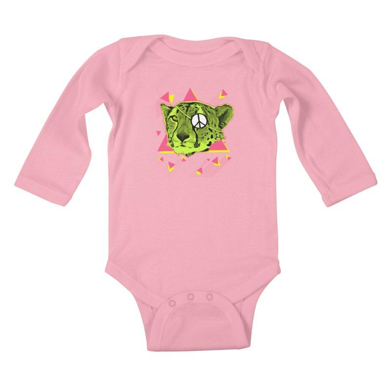 The Cheetah Neon Kids Baby Longsleeve Bodysuit by inboxstreetwear's Shop