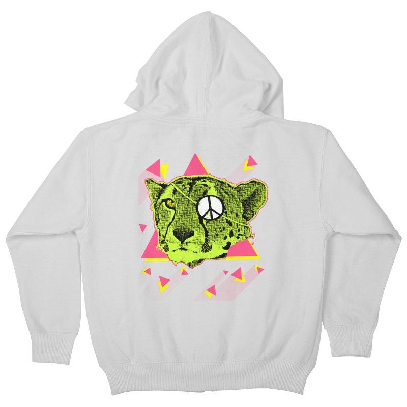 The Cheetah Neon Kids Zip-Up Hoody by inboxstreetwear's Shop