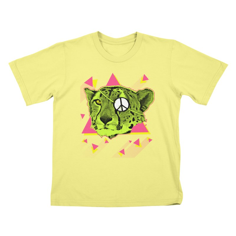 The Cheetah Neon Kids T-shirt by inboxstreetwear's Shop
