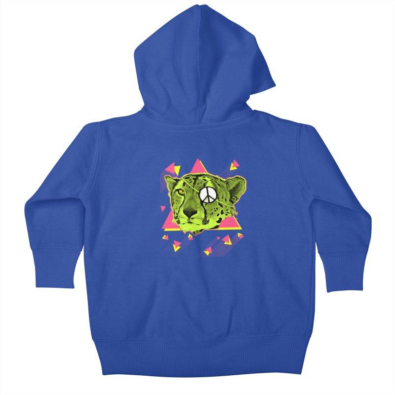 The Cheetah Neon Kids Baby Zip-Up Hoody by inboxstreetwear's Shop