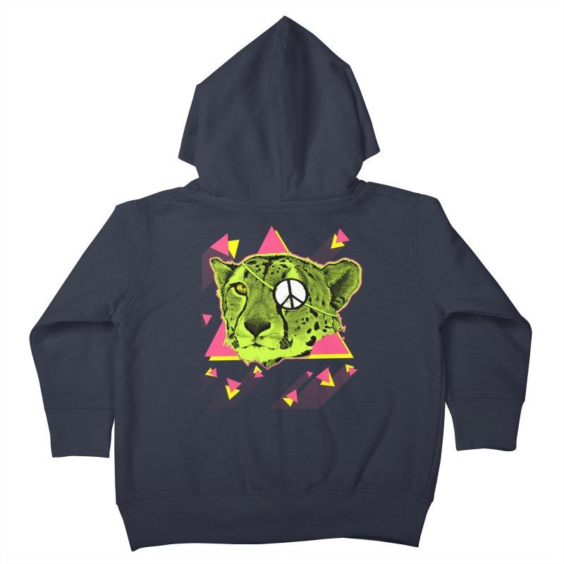 The Cheetah Neon Kids Toddler Zip-Up Hoody by inboxstreetwear's Shop