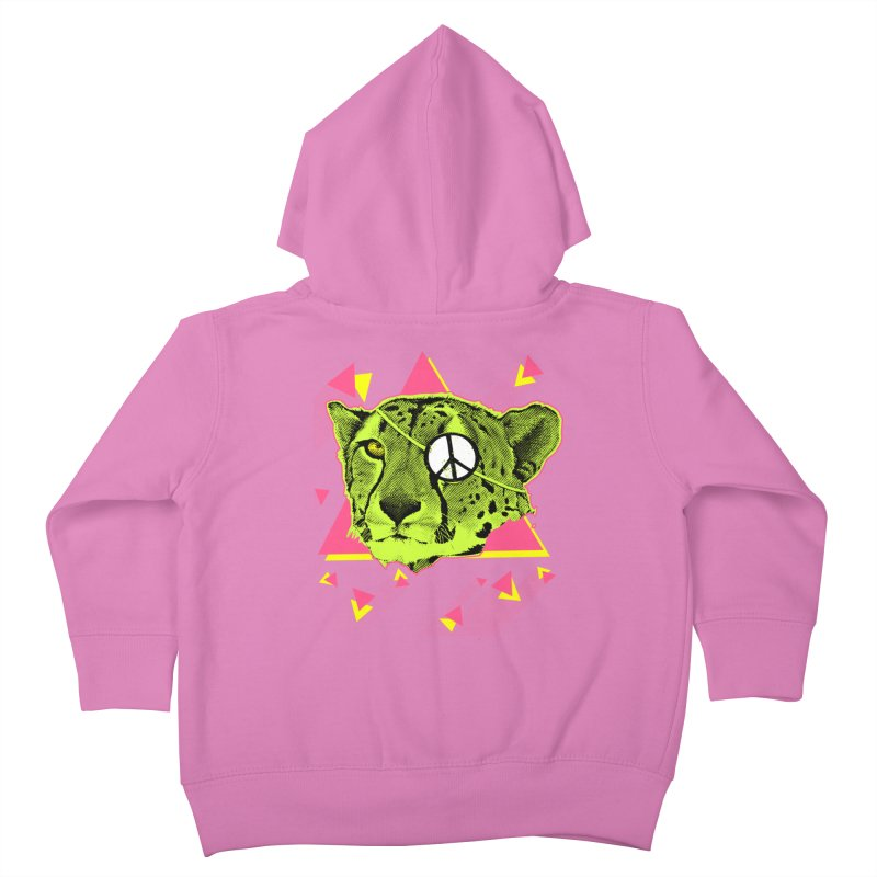 The Cheetah Neon Kids Toddler Zip-Up Hoody by inboxstreetwear's Shop