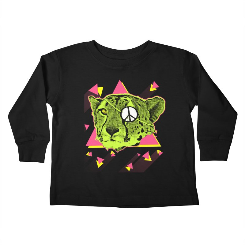 The Cheetah Neon Kids Toddler Longsleeve T-Shirt by inboxstreetwear's Shop