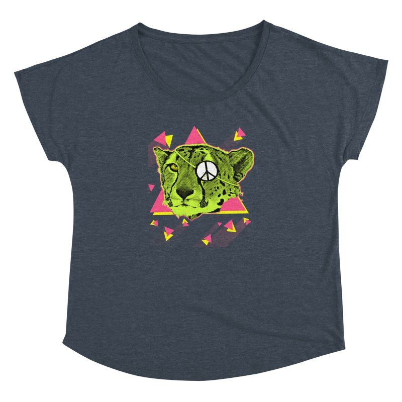 The Cheetah Neon Women's Dolman by inboxstreetwear's Shop