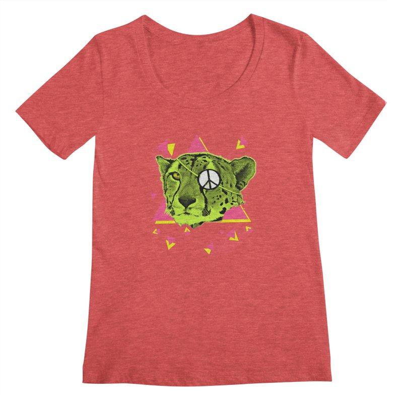 The Cheetah Neon Women's Scoopneck by inboxstreetwear's Shop