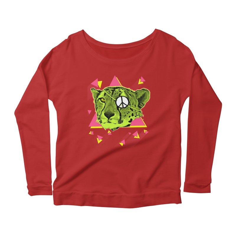 The Cheetah Neon Women's Longsleeve Scoopneck  by inboxstreetwear's Shop