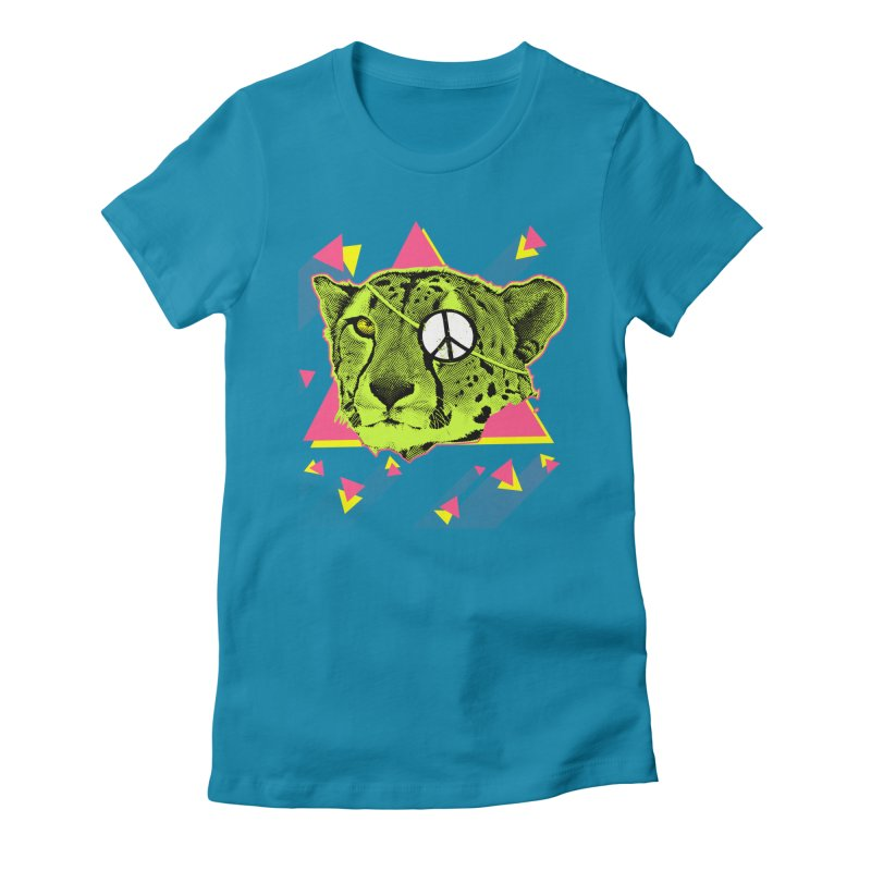 The Cheetah Neon Women's Fitted T-Shirt by inboxstreetwear's Shop