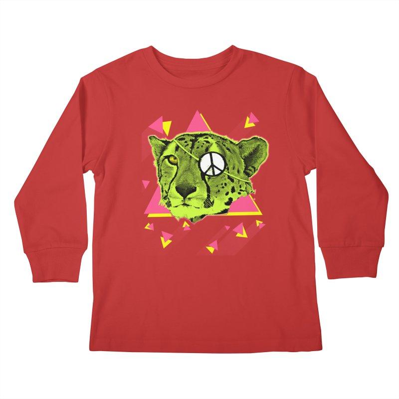 The Cheetah Neon Kids Longsleeve T-Shirt by inboxstreetwear's Shop