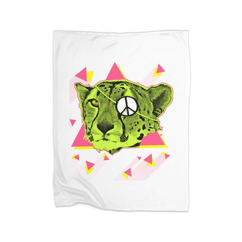 The Cheetah Neon Home Blanket by inboxstreetwear's Shop