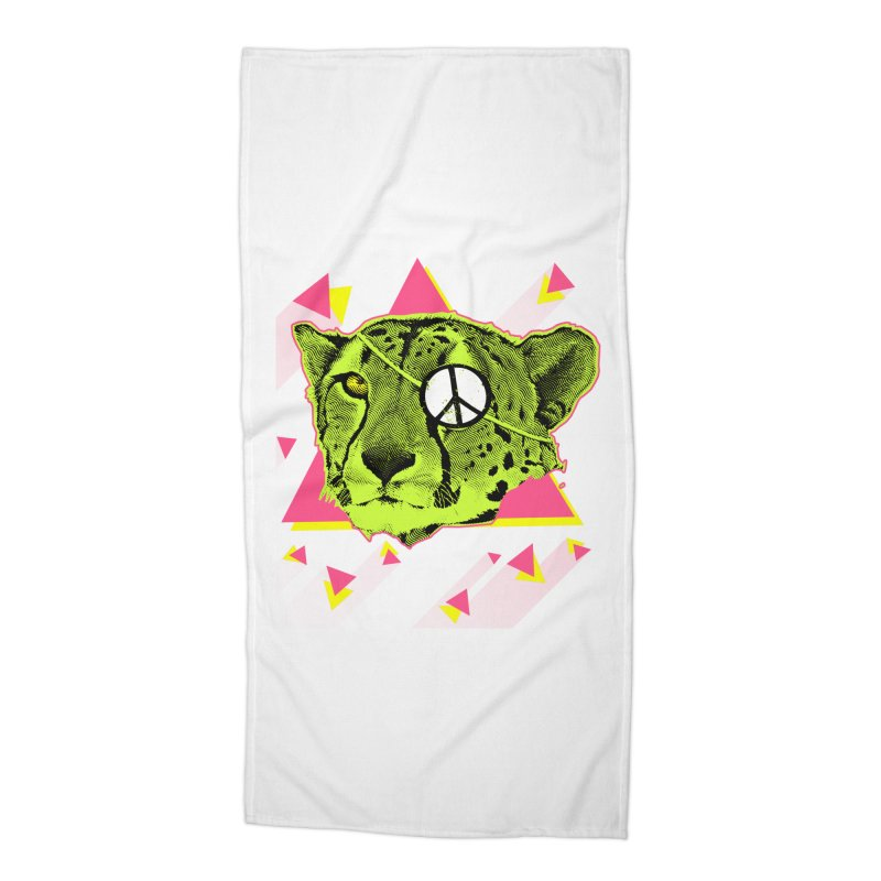 The Cheetah Neon Accessories Beach Towel by inboxstreetwear's Shop