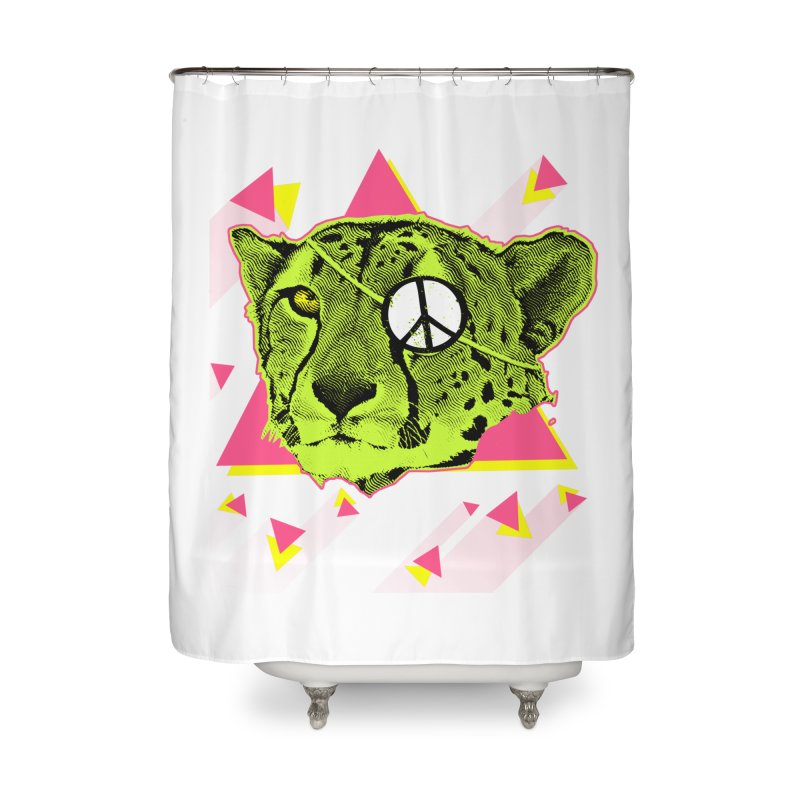 The Cheetah Neon Home Shower Curtain by inboxstreetwear's Shop