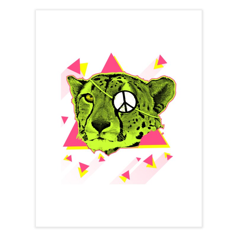 The Cheetah Neon Home Fine Art Print by inboxstreetwear's Shop