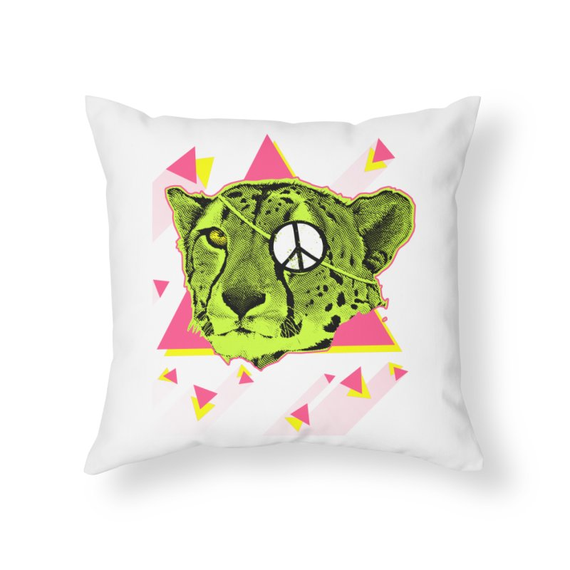 The Cheetah Neon Home Throw Pillow by inboxstreetwear's Shop