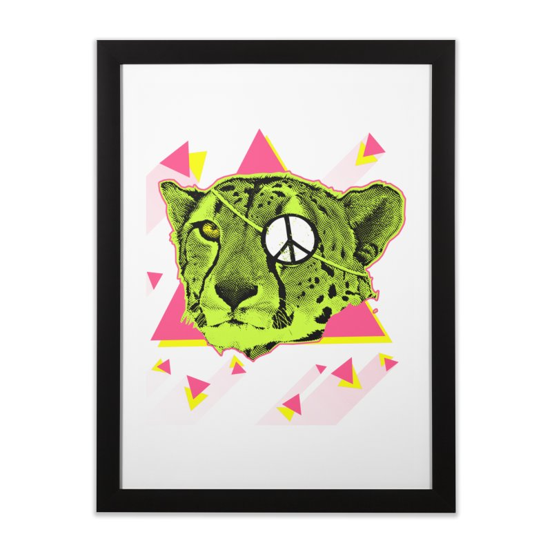 The Cheetah Neon Home Framed Fine Art Print by inboxstreetwear's Shop