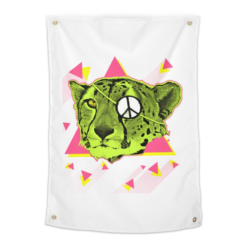 The Cheetah Neon Home Tapestry by inboxstreetwear's Shop