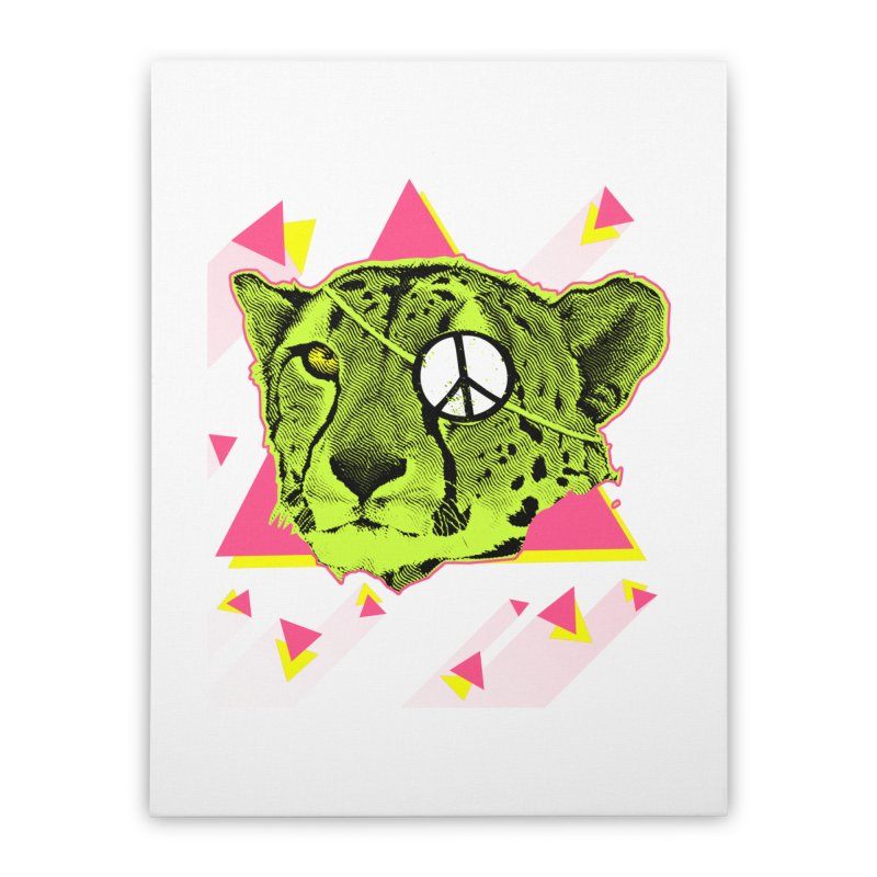 The Cheetah Neon Home Stretched Canvas by inboxstreetwear's Shop