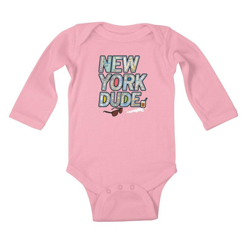 The Dude NY Kids Baby Longsleeve Bodysuit by inboxstreetwear's Shop